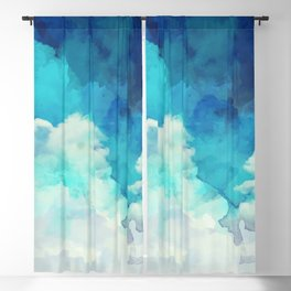 Absract Watercolor Clouds Blackout Curtain