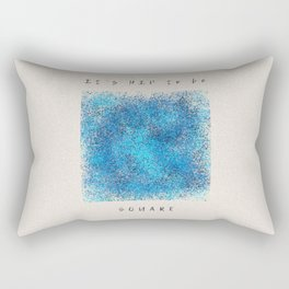 Square surrounded by epic words Rectangular Pillow