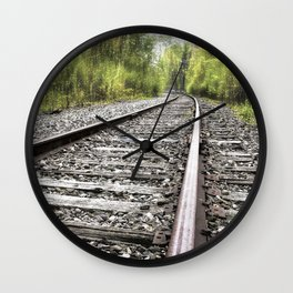 A Track Through The Woods Wall Clock