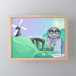 Land Of Owl Framed Mini Art Print