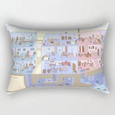 Village Homes Maze Rectangular Pillow