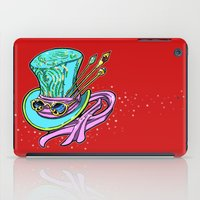 mad hatter iPad Cases featuring Mad Hatter Hat by Art by Mary C.