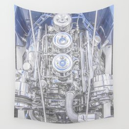 Hot Rod Blue, Automotive Art with Lots of Chrome by Murray Bolesta Wall Tapestry