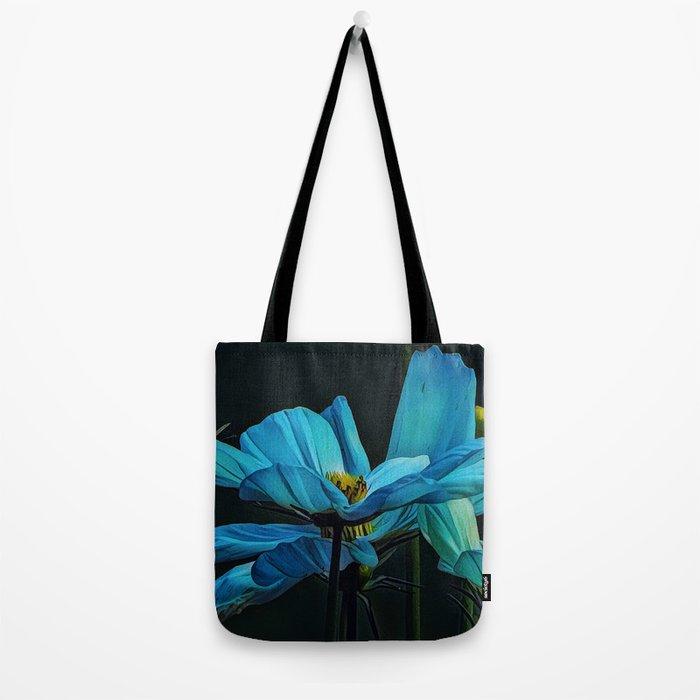 Cool Blue Comos Tote Bag