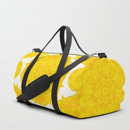 Solar Plexus Chakra Mandala Duffle Bag
