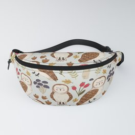 Woodland Owls Pattern Fanny Pack