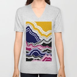 Abstract Mountains Unisex V-Neck