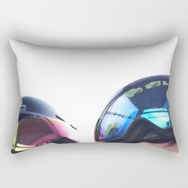 Going up - Goggles reflecting gondola Rectangular Pillow