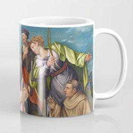 "Tintoretto (Jacopo Robusti) ""Holy Family with Saint John the Baptist,..., Elisabeth and Catherina"" Coffee Mug"