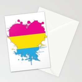 Pansexual Heart Stationery Cards