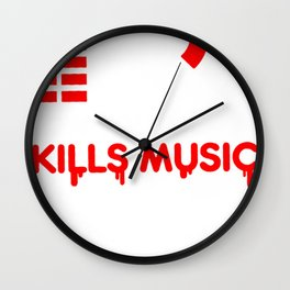 Low Volume kills Music Wall Clock