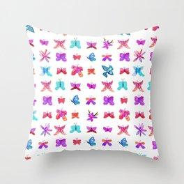 Teeny Butteflies Throw Pillow