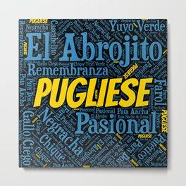 Argentine Tango Pugliese Word Font Art Metal Print
