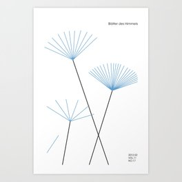 Blätter des Himmels Art Print