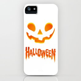 Hallowen Spooky Pumpkin T Shirt Gift for Hallows eve iPhone Case