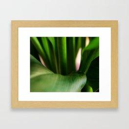 Still Movement - Stems Up Close - Leaves - Green Framed Art Print