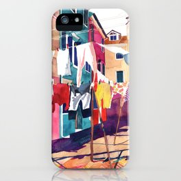 Laundry in Venice iPhone Case