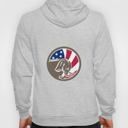 Republican Elephant Mascot USA Flag Hoody