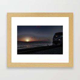 Silver Sunset Framed Art Print
