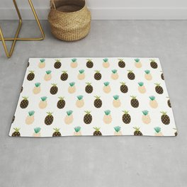 Abstract Pineapples Rug