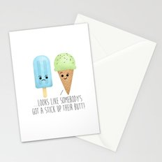 ...Looks Like Somebody's Got A Stick Up Their Butt! Stationery Cards