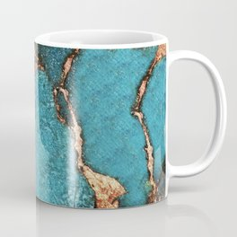 AQUA & GOLD GEMSTONE Coffee Mug