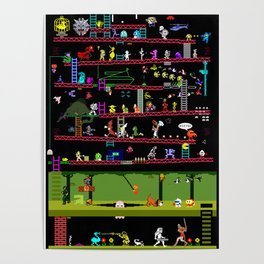 50 Classic Video Games Poster