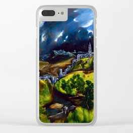 El Greco View of Toledo Clear iPhone Case