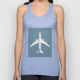 747 Jumbo Jet Airliner Aircraft - Slate Unisex Tank Top