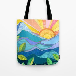 Sunset Through The Leaves Tote Bag