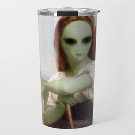 Bouguereau's Alien Shepherdess Travel Mug