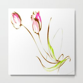 TULIPS-PAINTING Metal Print