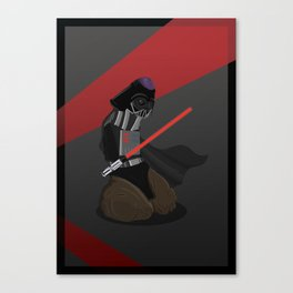 Darth Vader as a Penis Canvas Print