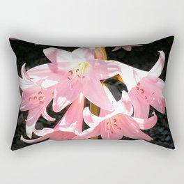 Pink Lilies Rectangular Pillow