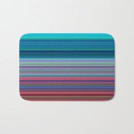 Blurry Saturn Stripes Bath Mat