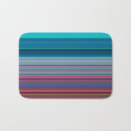 Blurry Saturn Stripes Bath Mat