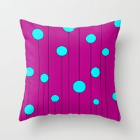 balloons Throw Pillows featuring Balloons  by JuniqueStudio