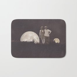 Moon on a meadow vintage 1920s Bath Mat