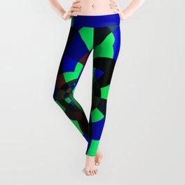 Green Blue Kaleidoscope Leggings