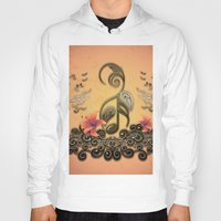 music notes Hoodies featuring Key notes  by nicky2342
