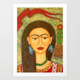 My homage to Frida Art Print