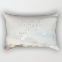 close your eyes ... clear your heart ... let go Rectangular Pillow