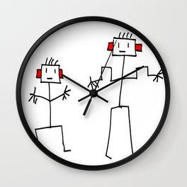 Two robots Wall Clock