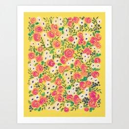 Minnie (Painted Flower Pattern) Art Print
