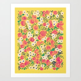 Minnie (Painted Flower Pattern) Art Print