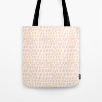 eggs Tote Bags featuring Eggs by Catherine Gibbard