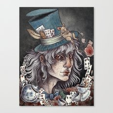 the Mad Hatter print Canvas Print