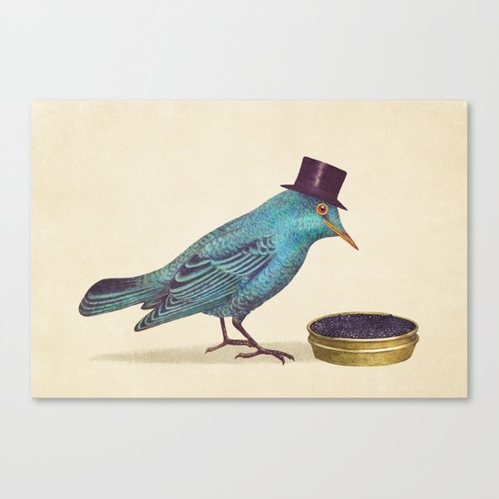 Gentlebirds Prefer Caviar  Canvas Print