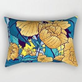 The yellow flowers Rectangular Pillow