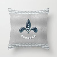 diamonds Throw Pillows featuring Diamonds by nicky2342
